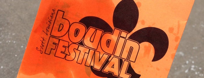 Boudin Festival is one of Eat Lafayette.