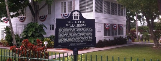 Harry Truman's Little White House is one of Key West.