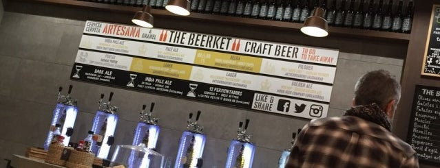 The Beerket is one of Barcelona Craft Beer.