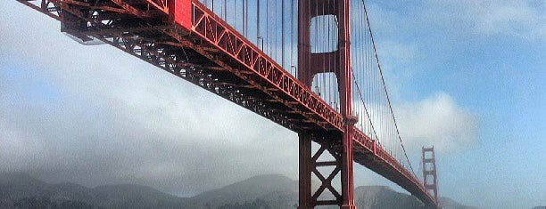 Golden Gate Bridge is one of San Francisco spots.
