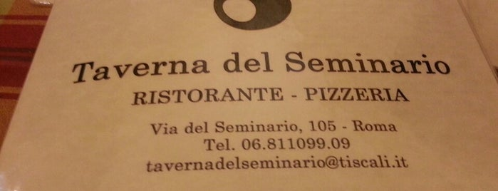 Taverna del Seminario is one of ROMA.
