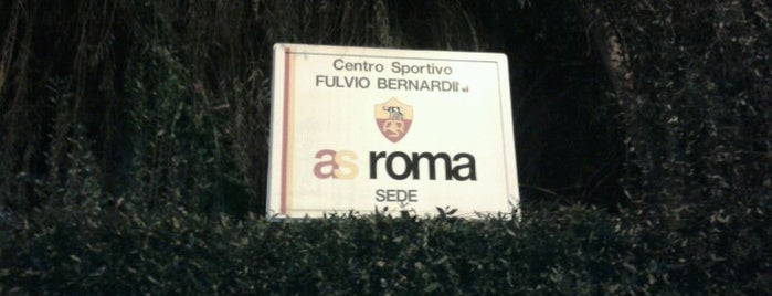 A.S. Roma - Centro Sportivo Fulvio Bernardini is one of badger.