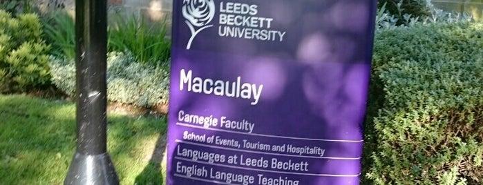 Macaulay Hall is one of Leeds Beckett University Buildings.