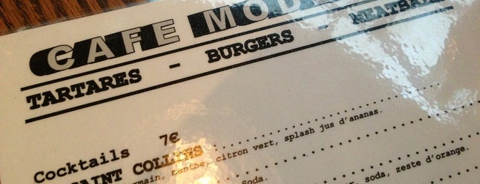 Café Moderne is one of PARIS Burger.