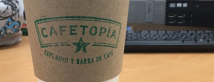 Cafetopia is one of Portales.