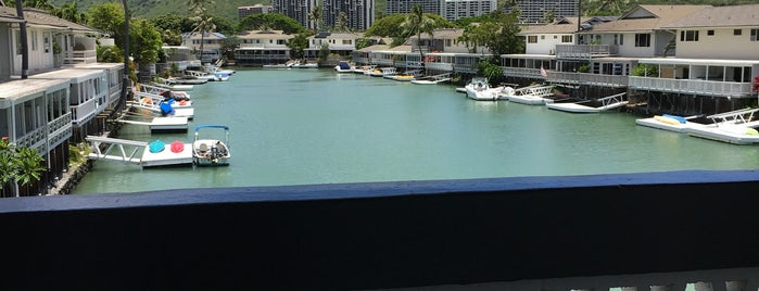 Hawaii Kai Marina on a Dock is one of Favorite Local Kine Hawaii.