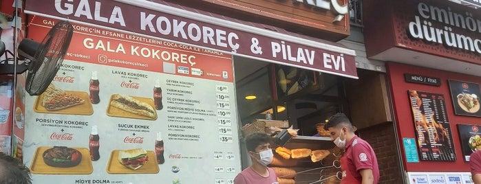 Gala Kokoreç Sirkeci is one of สถานที่ที่บันทึกไว้ของ Emre.