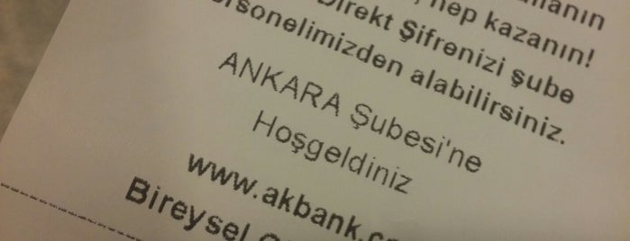 Akbank Ankara Şubesi is one of Mete 님이 좋아한 장소.