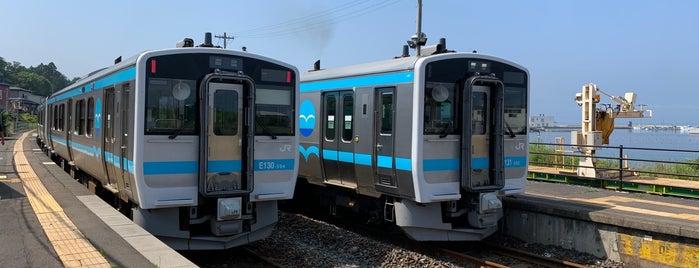 陸中八木駅 is one of JR 키타토호쿠지방역 (JR 北東北地方の駅).