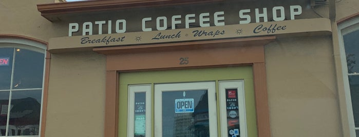 Patio Coffee Shop is one of Tempat yang Disukai Roy.