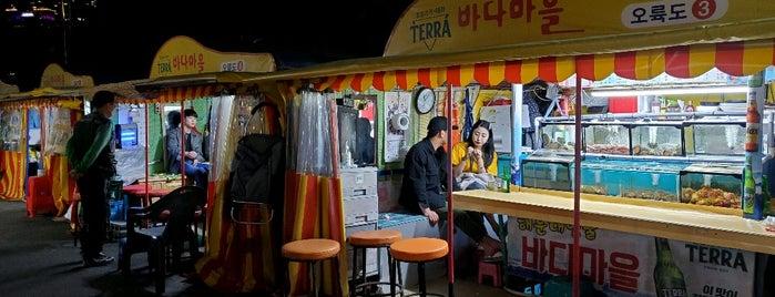 바다마을 포장마차촌 is one of 부산.