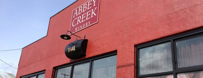 Abbey Creek winery is one of Pac NW.