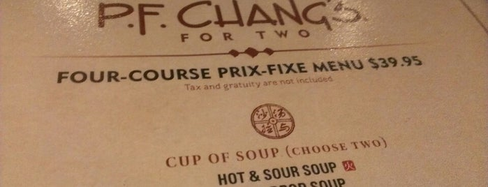 P.F. Chang's is one of Must Eat Places.