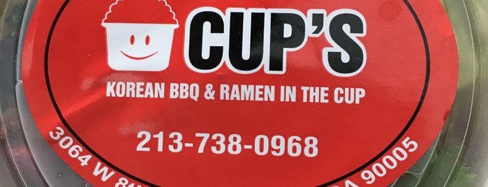 CUP'S is one of La Food, yo.
