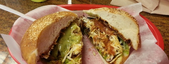Cemitas Puebla is one of Diners, Drive-Ins, and Dives.