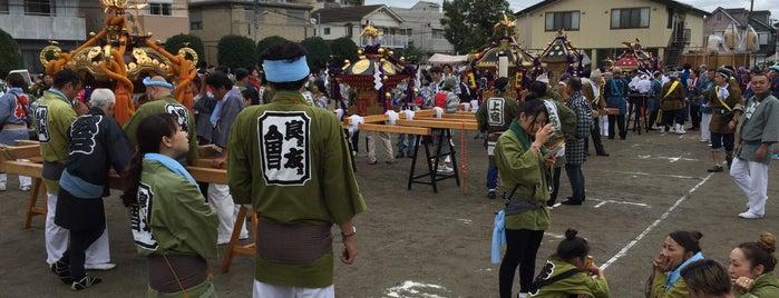 蓮沼公園 is one of 神輿で訪れた場所-1.