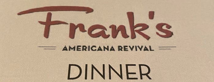 Frank's Americana Revival is one of Houston Restaurant Weeks - 2013.