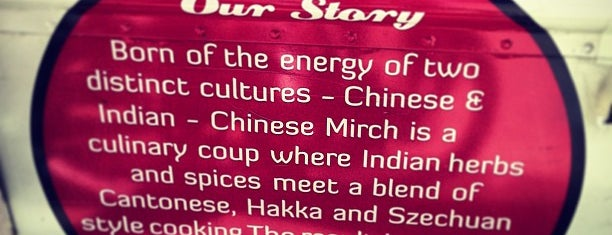 Chinese Mirch is one of NYC eats.