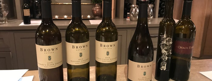 Brown Estate is one of Wining at wineries.