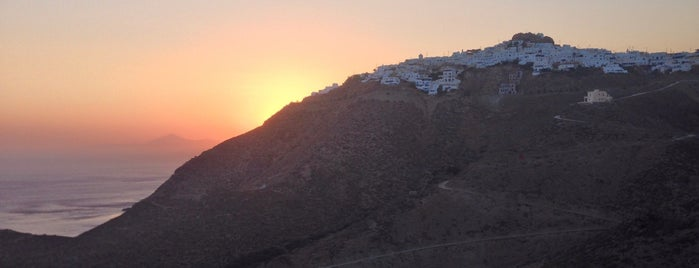 Anafi is one of Santorini + Mykonos.