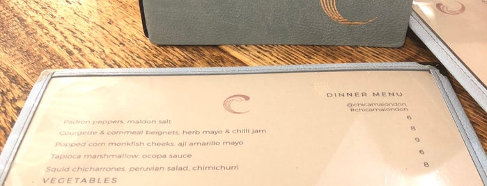 Chicama is one of London.