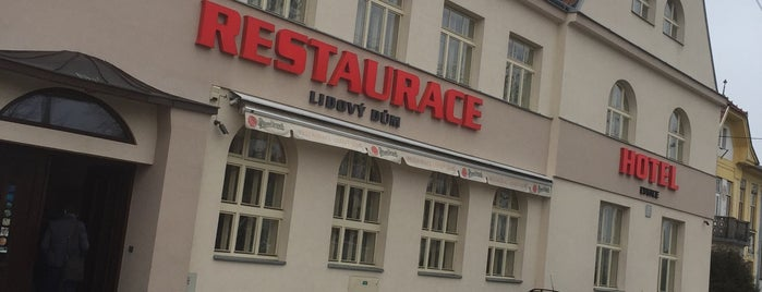 Restaurace a hotel Lidový dům Lysice is one of Martin : понравившиеся места.