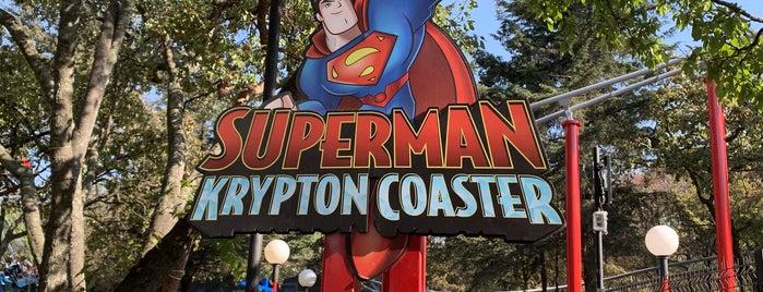 Superman Krypton Coaster is one of สถานที่ที่ Alejandro ถูกใจ.