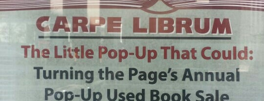 Carpe Librum Pop Up Book Sale is one of when in dc.