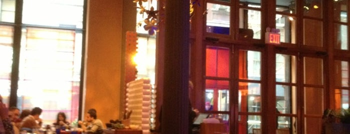 Rosa Mexicano is one of happy hour.