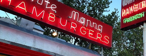 White Manna Hamburgers is one of Diners, Drive-Ins, & Dives.