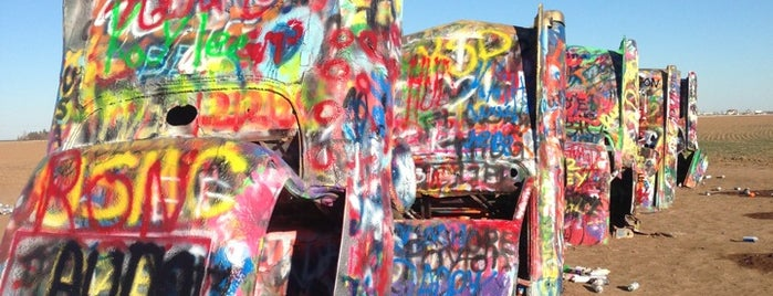 Cadillac Ranch is one of Route 66.