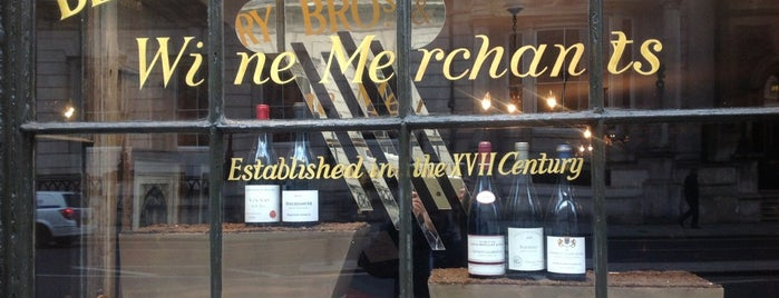 Berry Bros & Rudd is one of Wine shops and bars London.