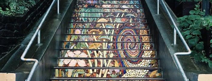 Hidden Garden Mosaic Steps is one of SF.