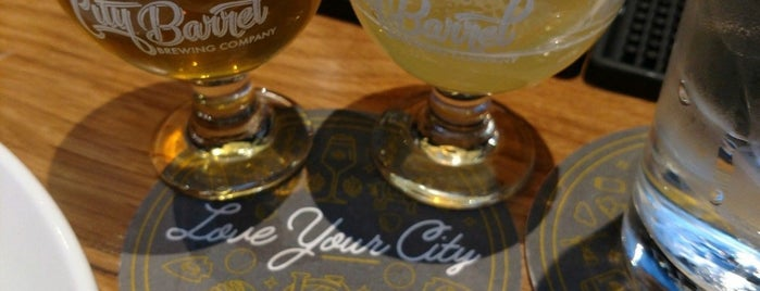 City Barrel Brewing Company is one of KC Q and Brew.