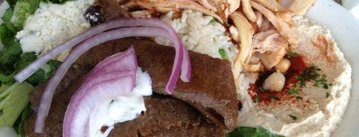 Albasha Greek & Lebanese Cafe is one of Tempat yang Disukai Matt.