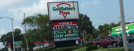 Godfather's Pizza is one of Trips south.