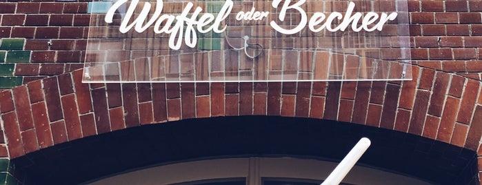 Waffel oder Becher is one of Eis.