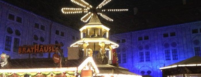 Weihnachtsdorf im Kaiserhof der Residenz is one of Munich's Best Christmas Markets.