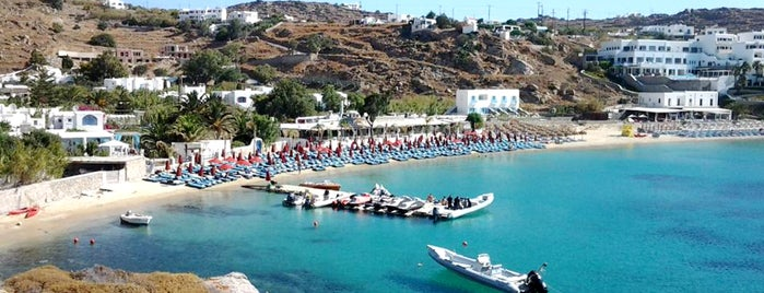 Platis Gialos Beach is one of Mikonos-Santorini-Girit.
