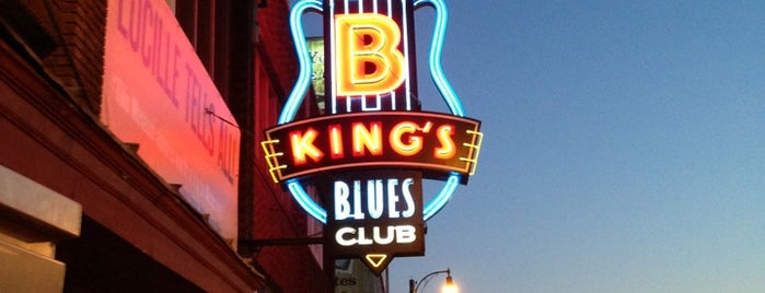 B.B. King's Blues Club is one of Memphis.