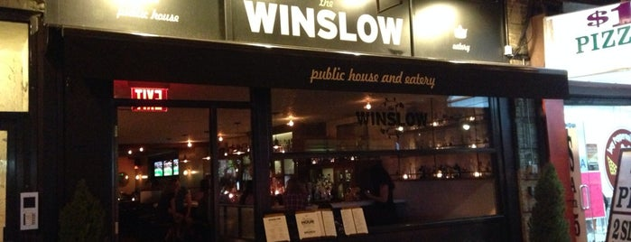 The Winslow is one of the happiest hour.