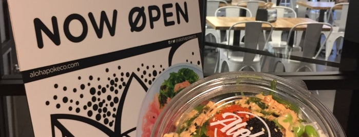 Aloha Poke Co is one of Downtown Lunch.