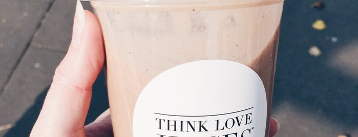 Think Love Juices is one of Locais curtidos por Alice.