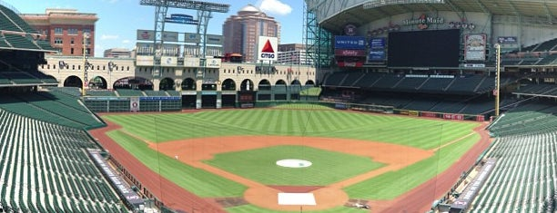 Minute Maid Park is one of Houston hangouts.