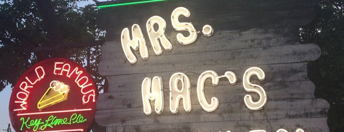 Mrs. Mac's Kitchen is one of Key West.