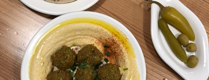 Aviv Hummus Bar is one of Mediterranean Restos recommended by Seattle Met.