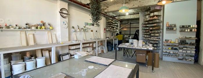 Wilcoxson Ceramics studio is one of nyc.