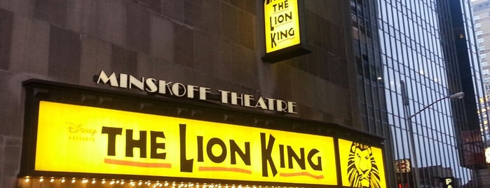 Minskoff Theatre is one of NYC to-do list.