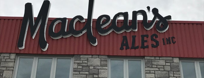 MacLean's Ales Inc. is one of Ontario Craft Brewers.
