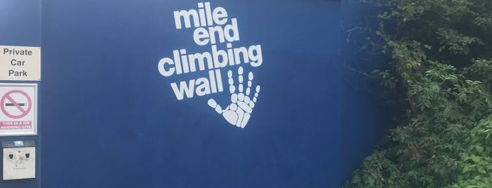 Mile End Climbing Wall is one of London.